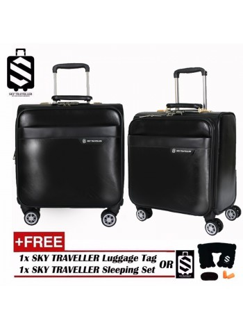 Luxury Leather Elegant Trolley Case Business Bag Luggage